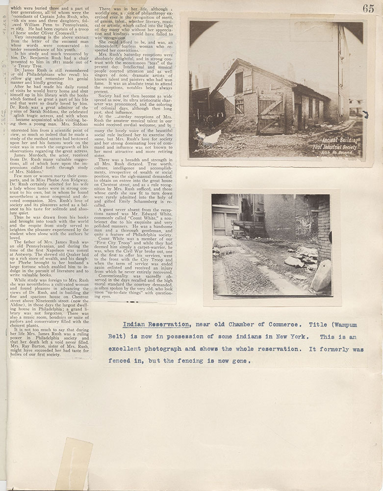 Castner Scrapbook v.4, Old Houses 1, page 65