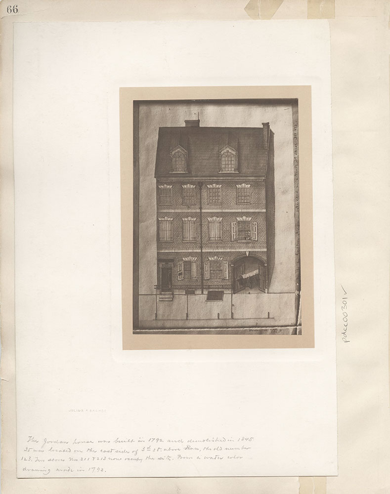 Castner Scrapbook v.4, Old Houses 1, page 66