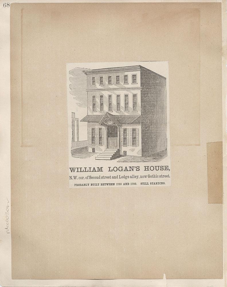 Castner Scrapbook v.4, Old Houses 1, page 68