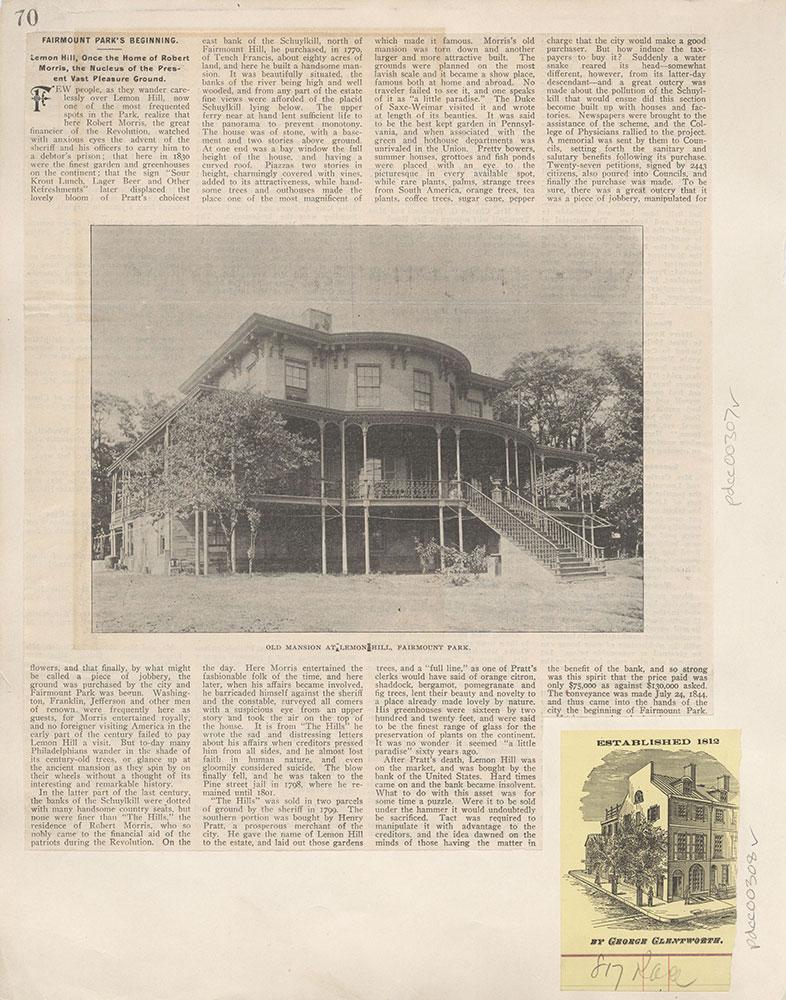 Castner Scrapbook v.4, Old Houses 1, page 70