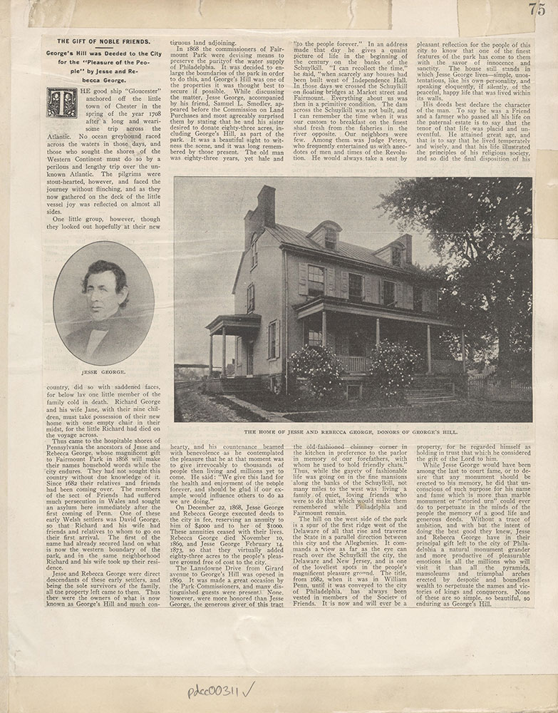 Castner Scrapbook v.4, Old Houses 1, page 75