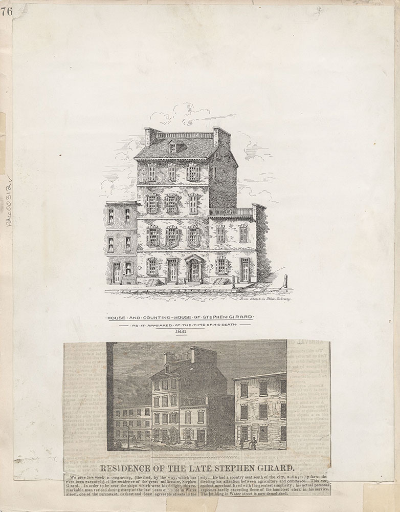 Castner Scrapbook v.4, Old Houses 1, page 76