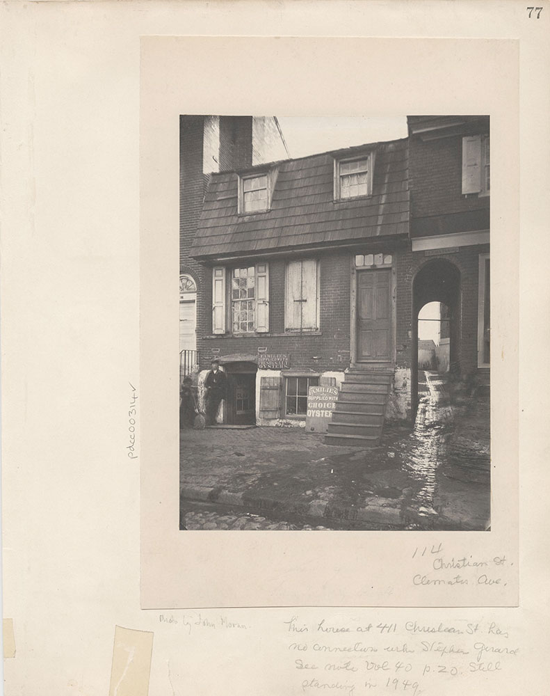 Castner Scrapbook v.4, Old Houses 1, page 77