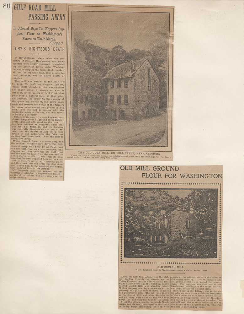 Castner Scrapbook v.4, Old Houses 1, page 80