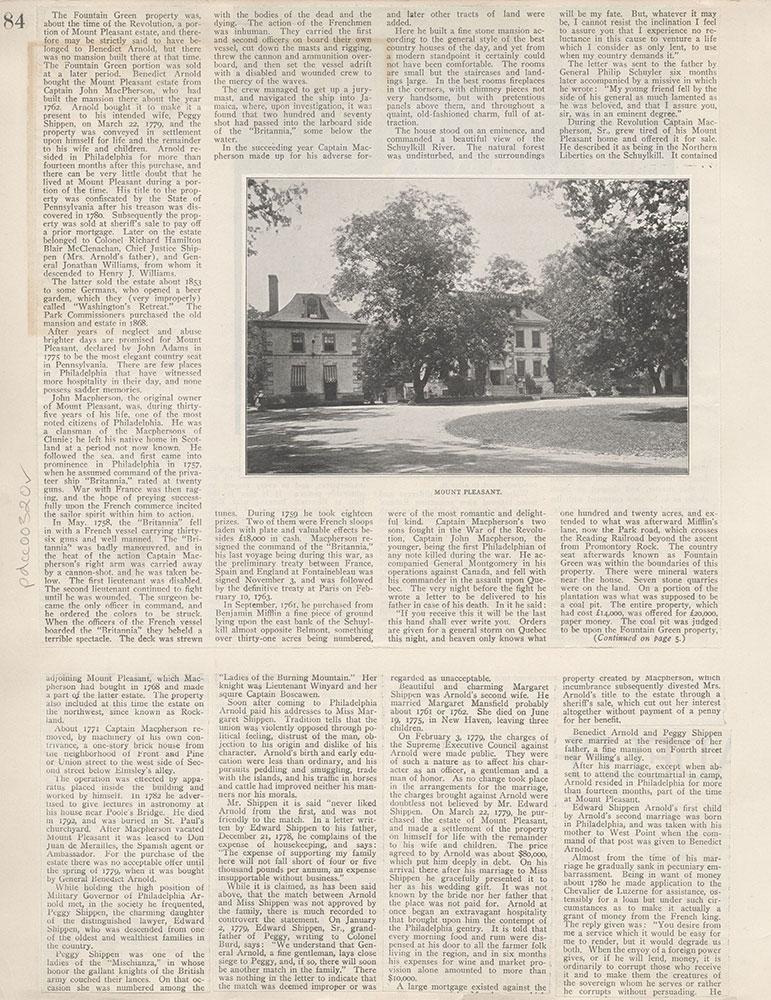 Castner Scrapbook v.4, Old Houses 1, page 84