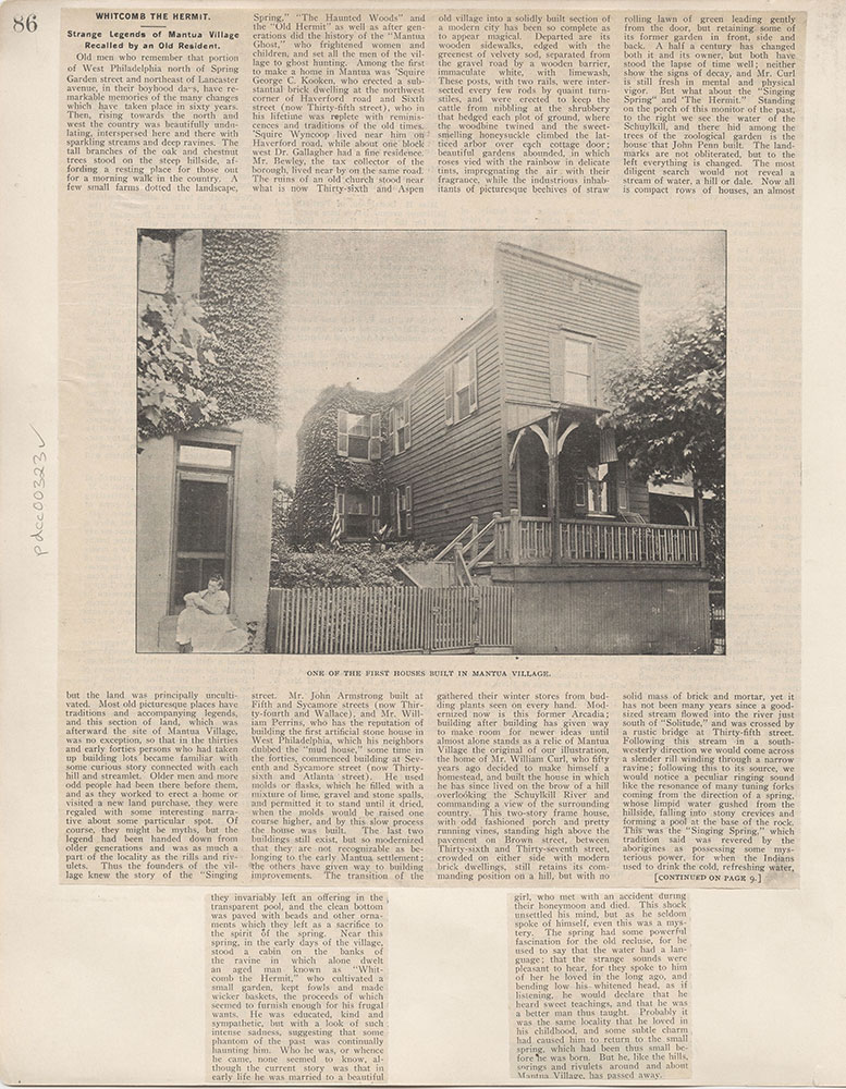 Castner Scrapbook v.4, Old Houses 1, page 86