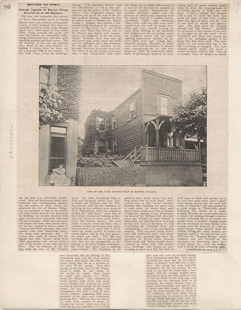 Castner Scrapbook v.4, Old Houses 1, page 86
