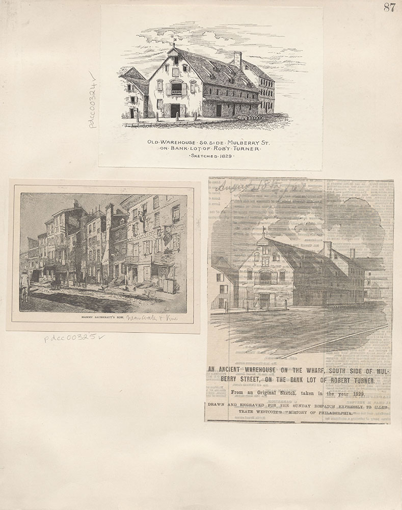 Castner Scrapbook v.4, Old Houses 1, page 87