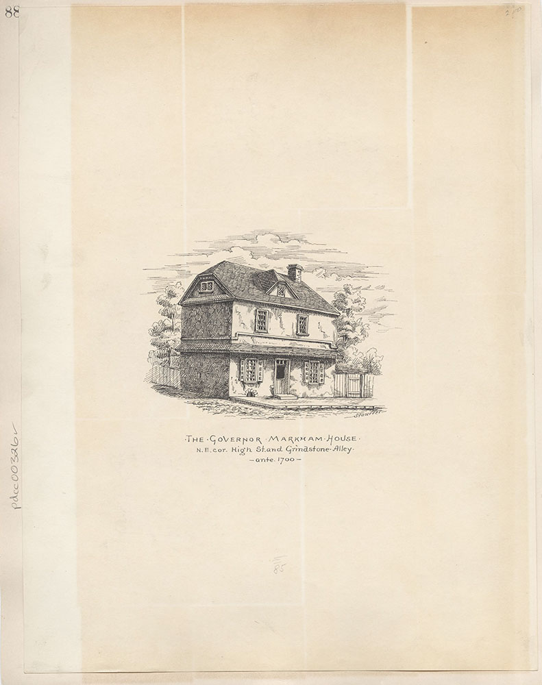 Castner Scrapbook v.4, Old Houses 1, page 88