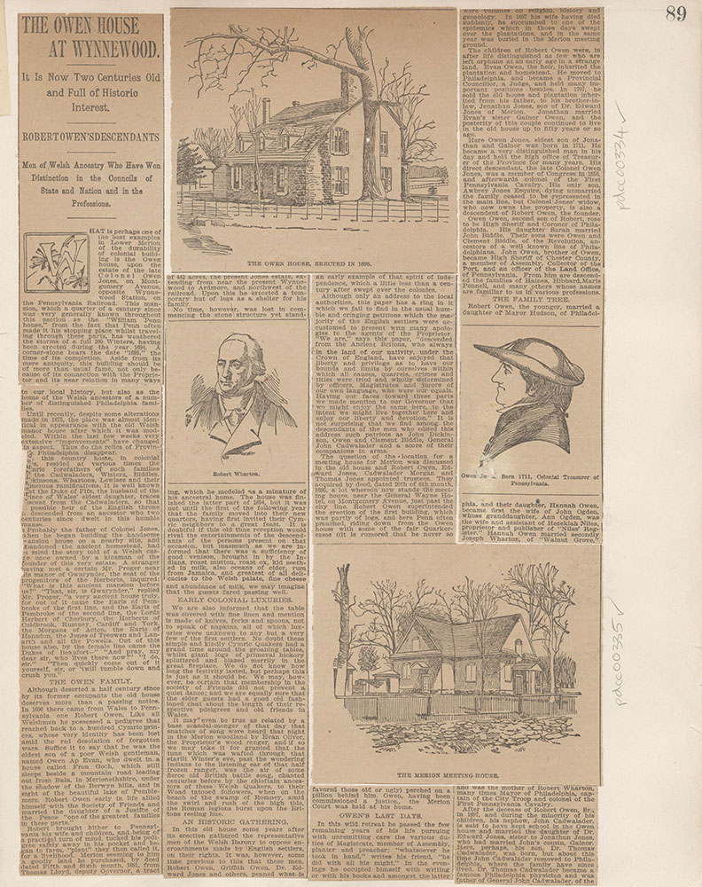 Castner Scrapbook v.4, Old Houses 1, page 89