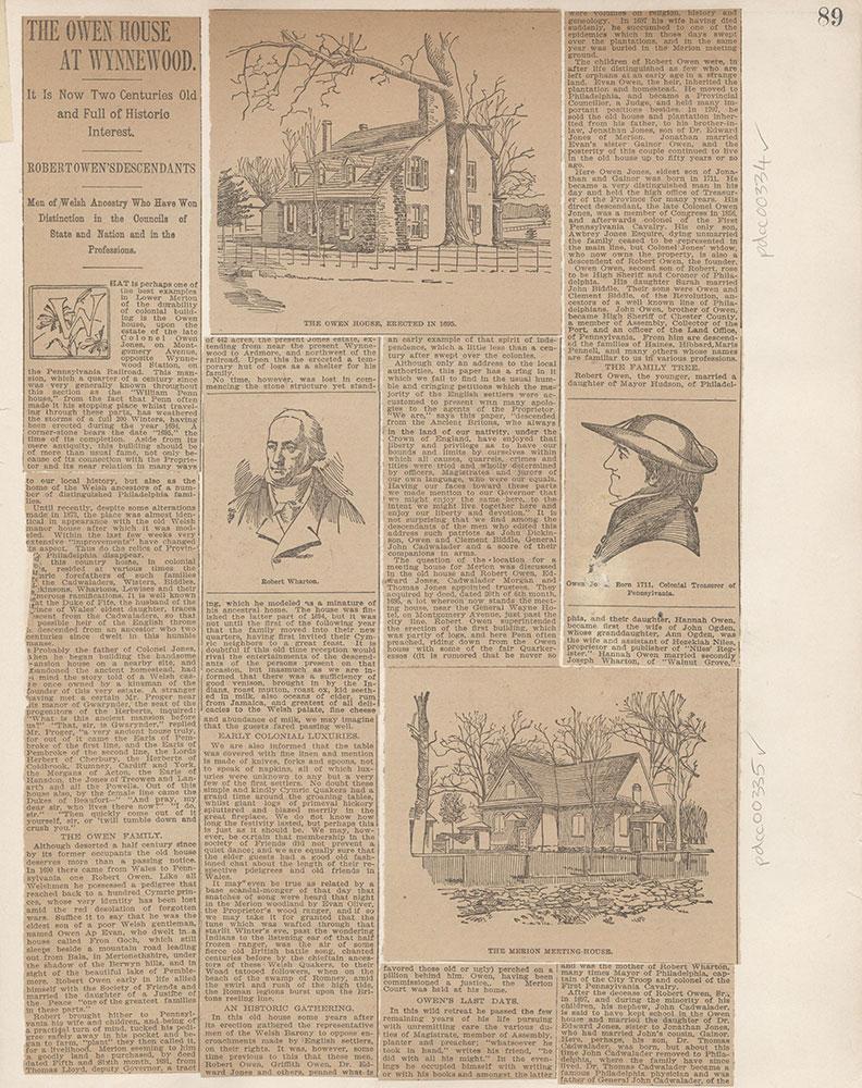 Castner Scrapbook v.4, Old Houses 1, page 89