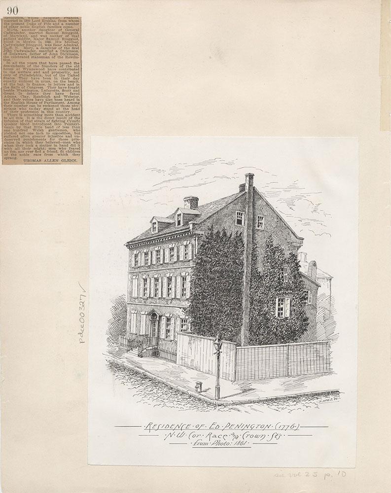 Castner Scrapbook v.4, Old Houses 1, page 90