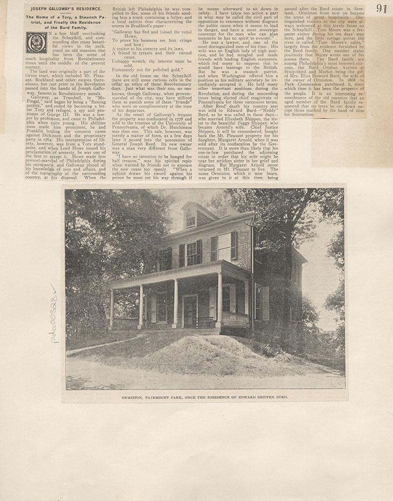Castner Scrapbook v.4, Old Houses 1, page 91