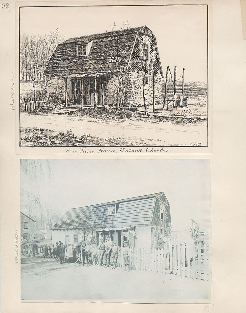 Castner Scrapbook v.4, Old Houses 1, page 92