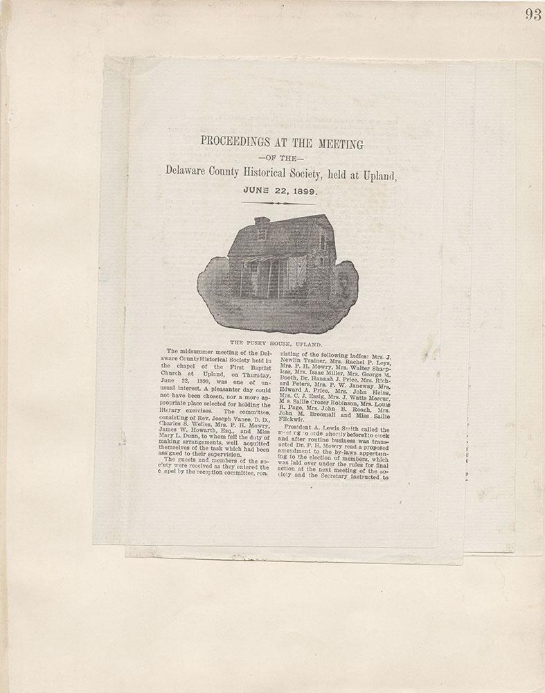 Castner Scrapbook v.4, Old Houses 1, page 93