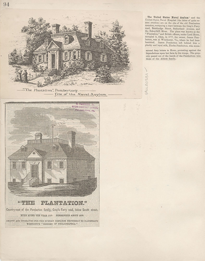 Castner Scrapbook v.4, Old Houses 1, page 94