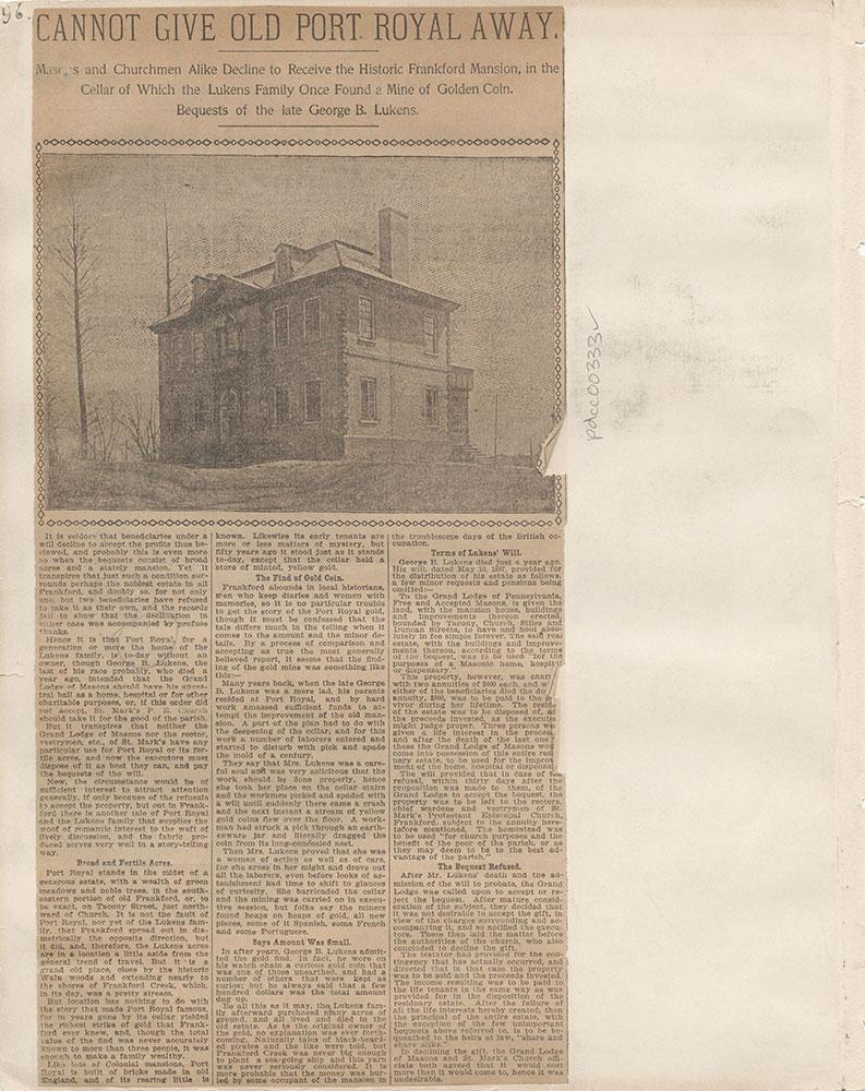 Castner Scrapbook v.4, Old Houses 1, page 96