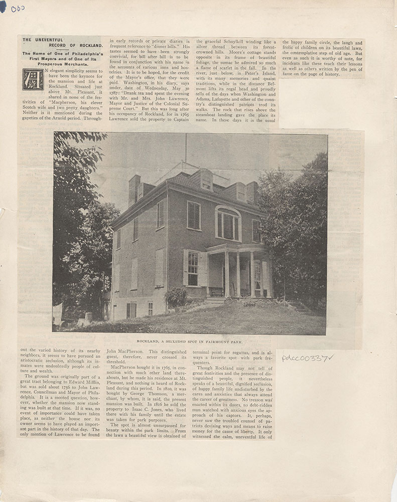 Castner Scrapbook v.5, Old Houses 2, page 000