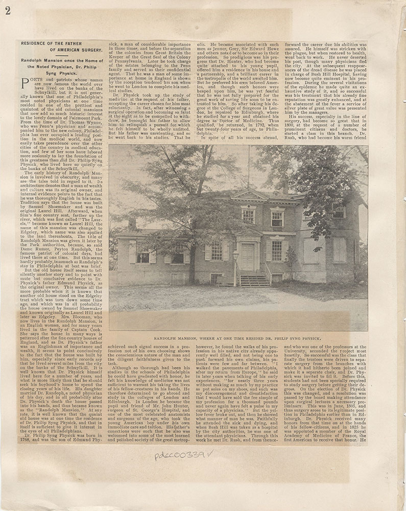 Castner Scrapbook v.5, Old Houses 2, page 2