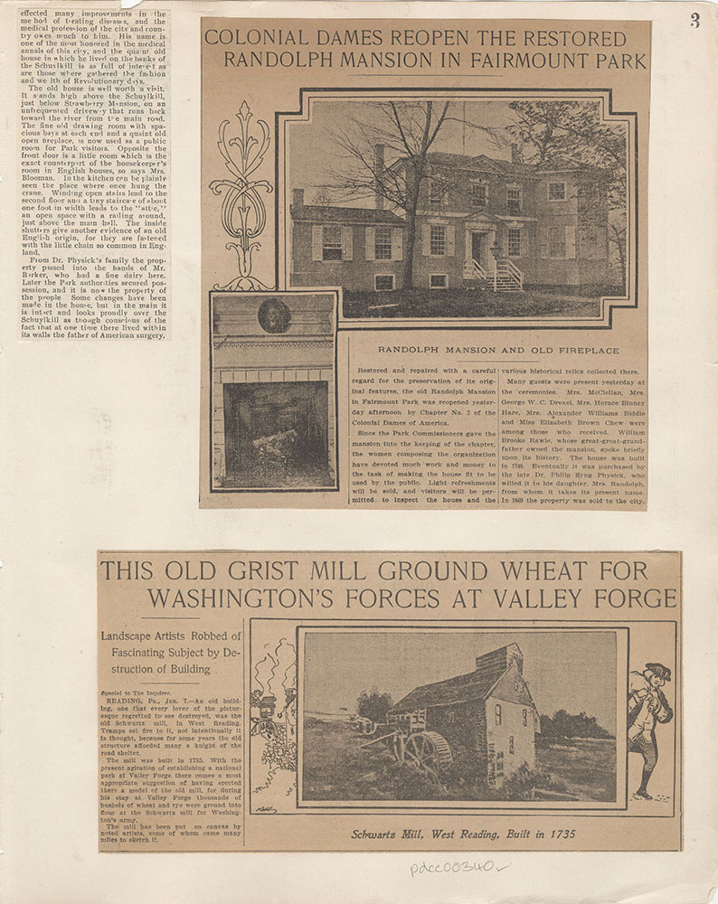 Castner Scrapbook v.5, Old Houses 2, page 3