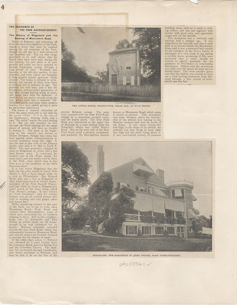 Castner Scrapbook v.5, Old Houses 2, page 4