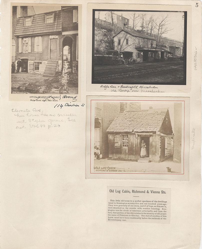 Castner Scrapbook v.5, Old Houses 2, page 5