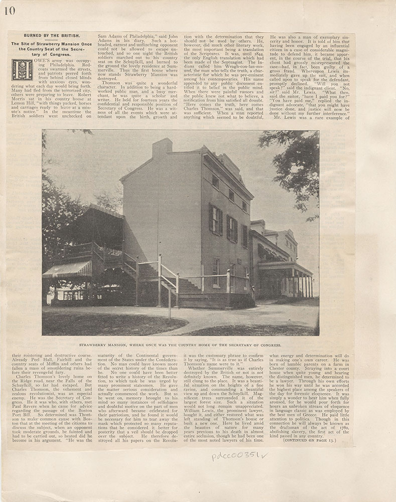 Castner Scrapbook v.5, Old Houses 2, page 10