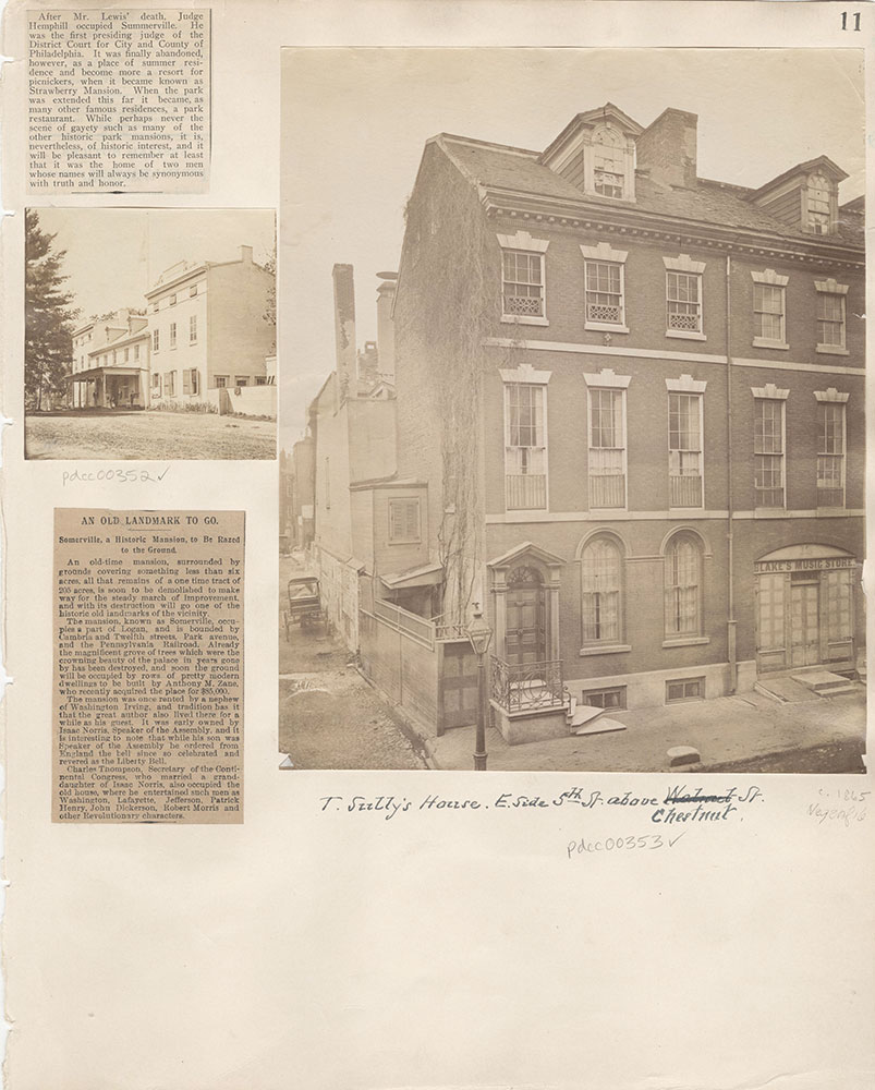 Castner Scrapbook v.5, Old Houses 2, page 11