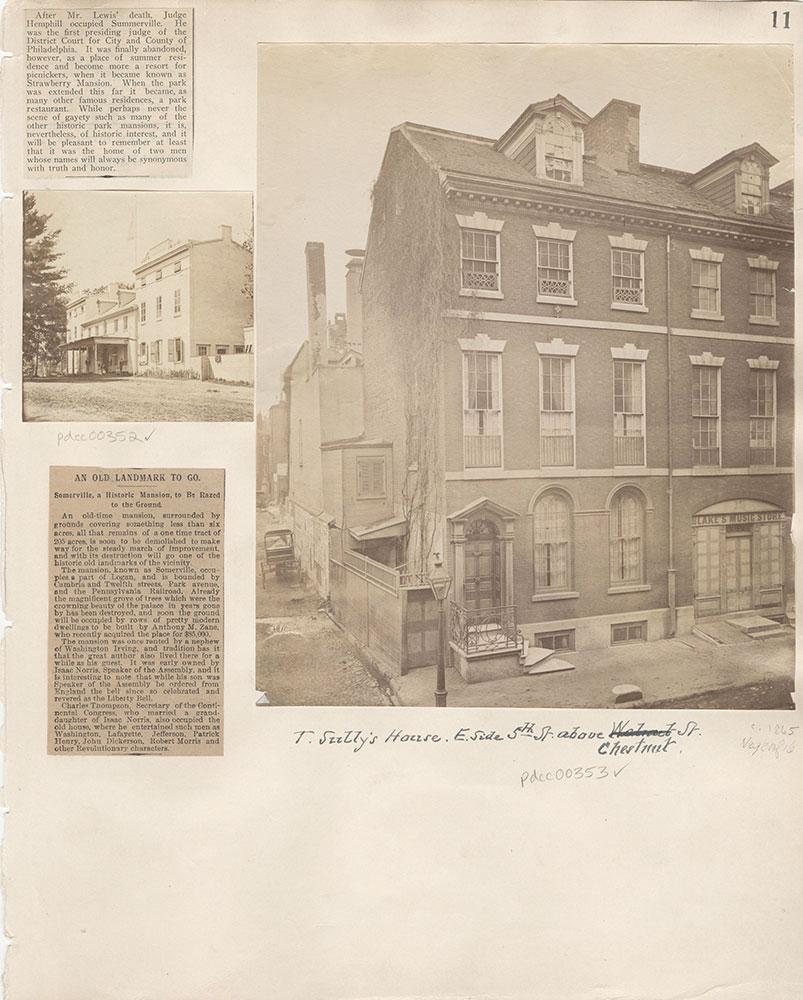Castner Scrapbook v.5, Old Houses 2, page 11