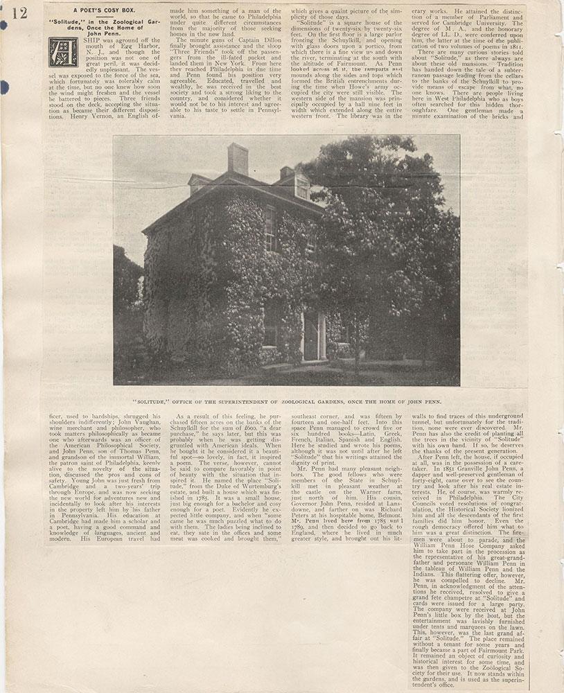 Castner Scrapbook v.5, Old Houses 2, page 12