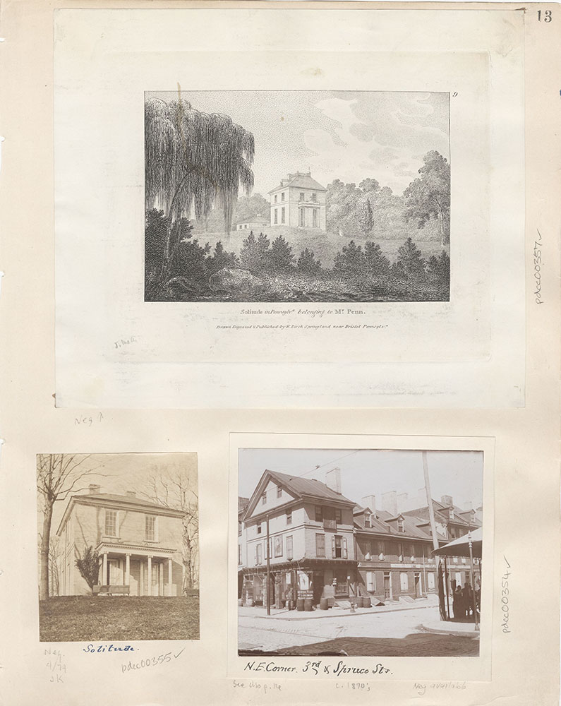 Castner Scrapbook v.5, Old Houses 2, page 13