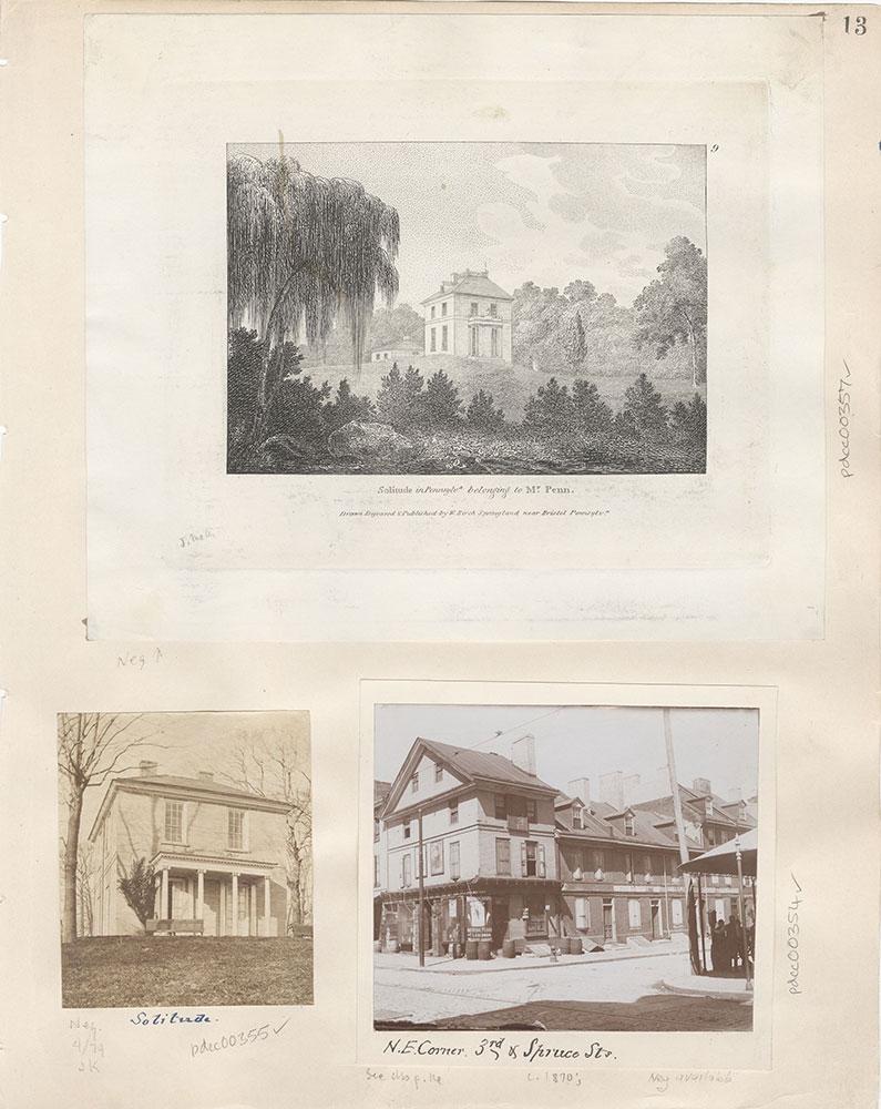 Castner Scrapbook v.5, Old Houses 2, page 13
