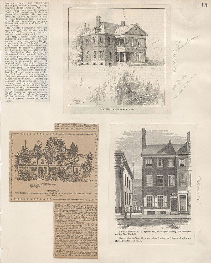 Castner Scrapbook v.5, Old Houses 2, page 15