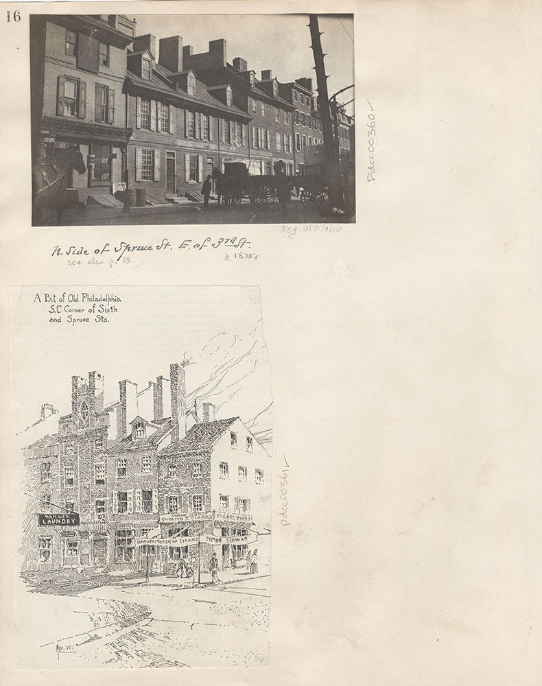 Castner Scrapbook v.5, Old Houses 2, page 16
