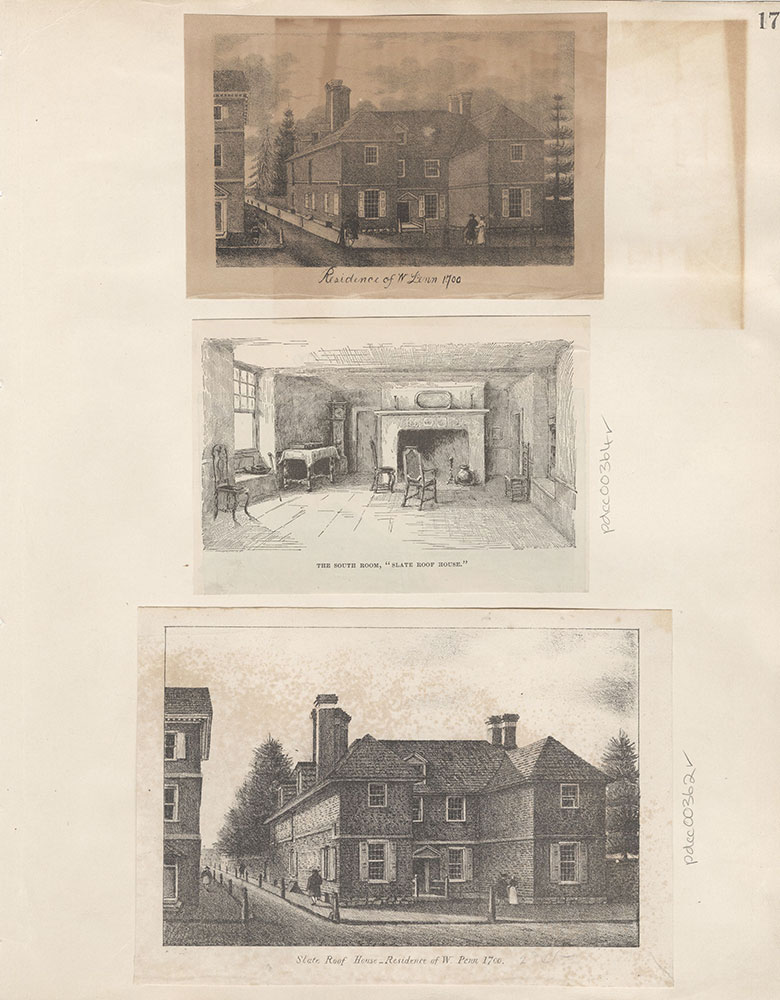 Castner Scrapbook v.5, Old Houses, page 17