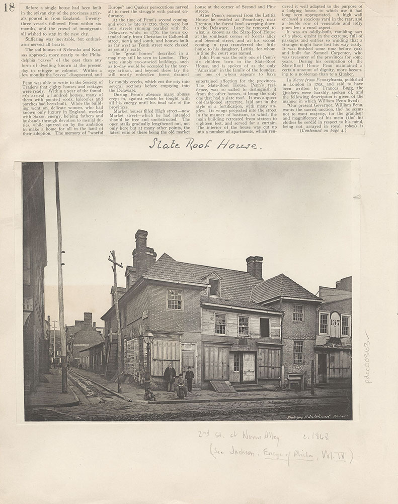 Castner Scrapbook v.5, Old Houses 2, page 18