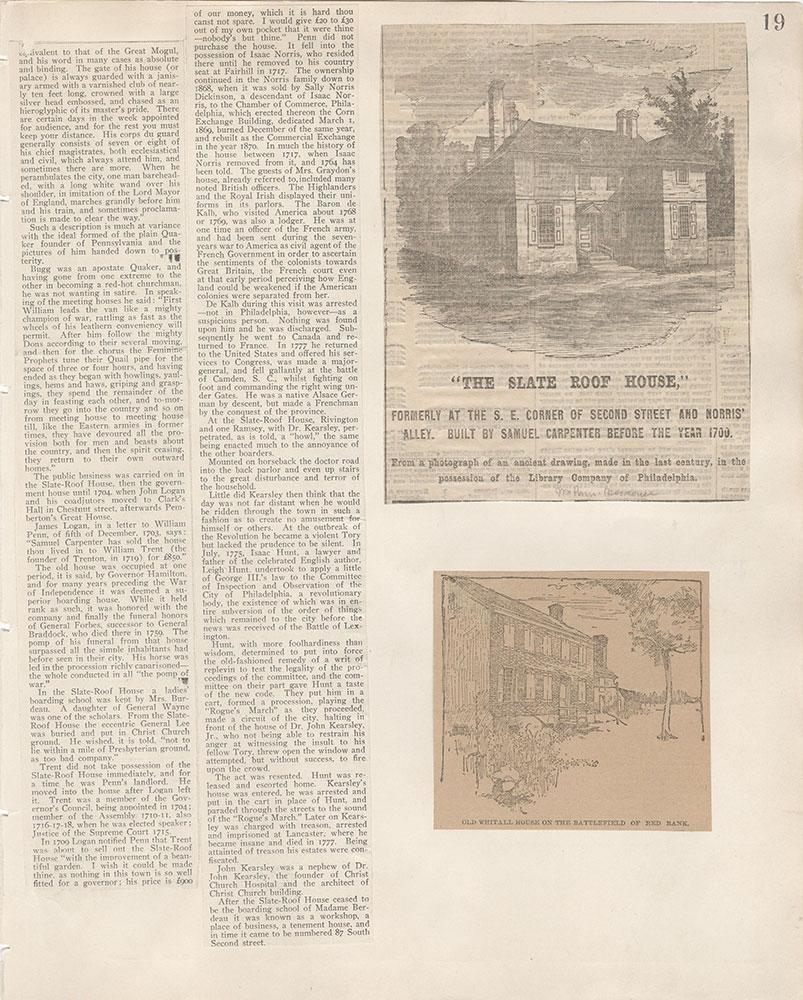 Castner Scrapbook v.5, Old Houses 2, page 19