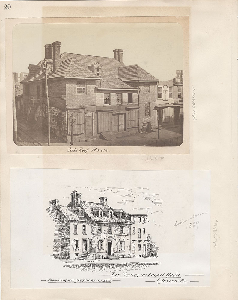 Castner Scrapbook v.5, Old Houses 2, page 20