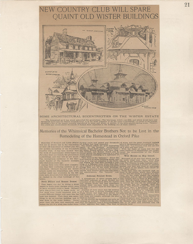 Castner Scrapbook v.5, Old Houses 2, page 21