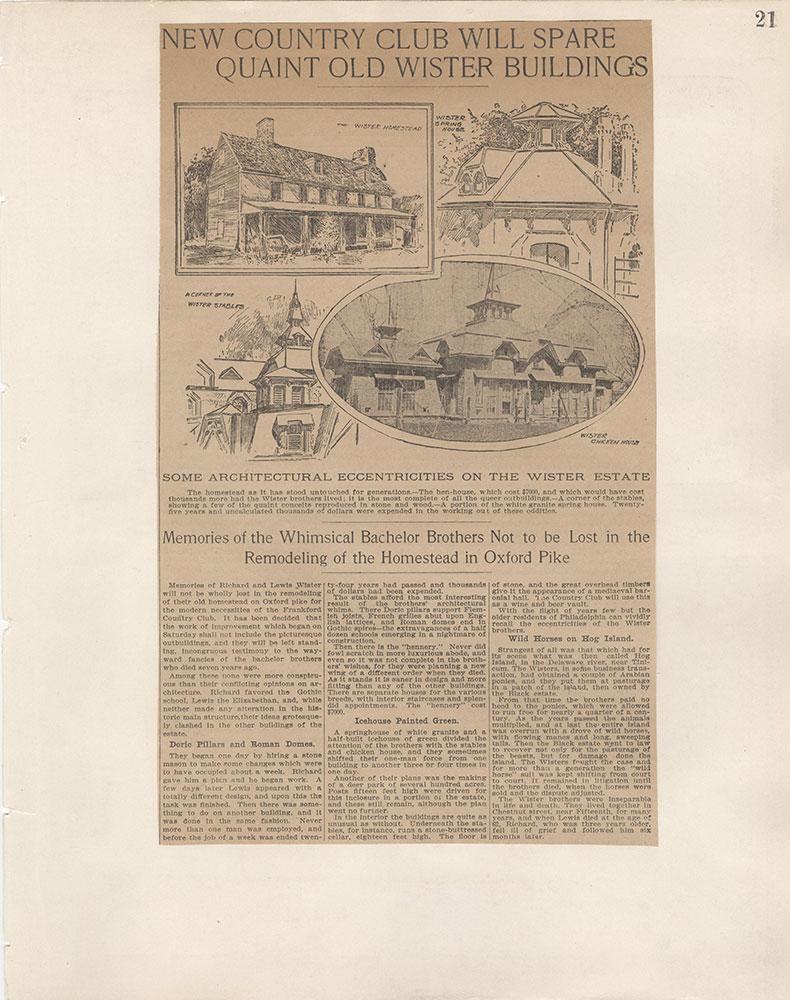 Castner Scrapbook v.5, Old Houses 2, page 21
