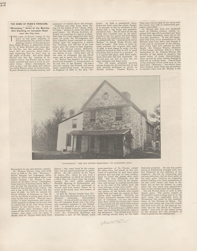 Castner Scrapbook v.5, Old Houses 2, page 22