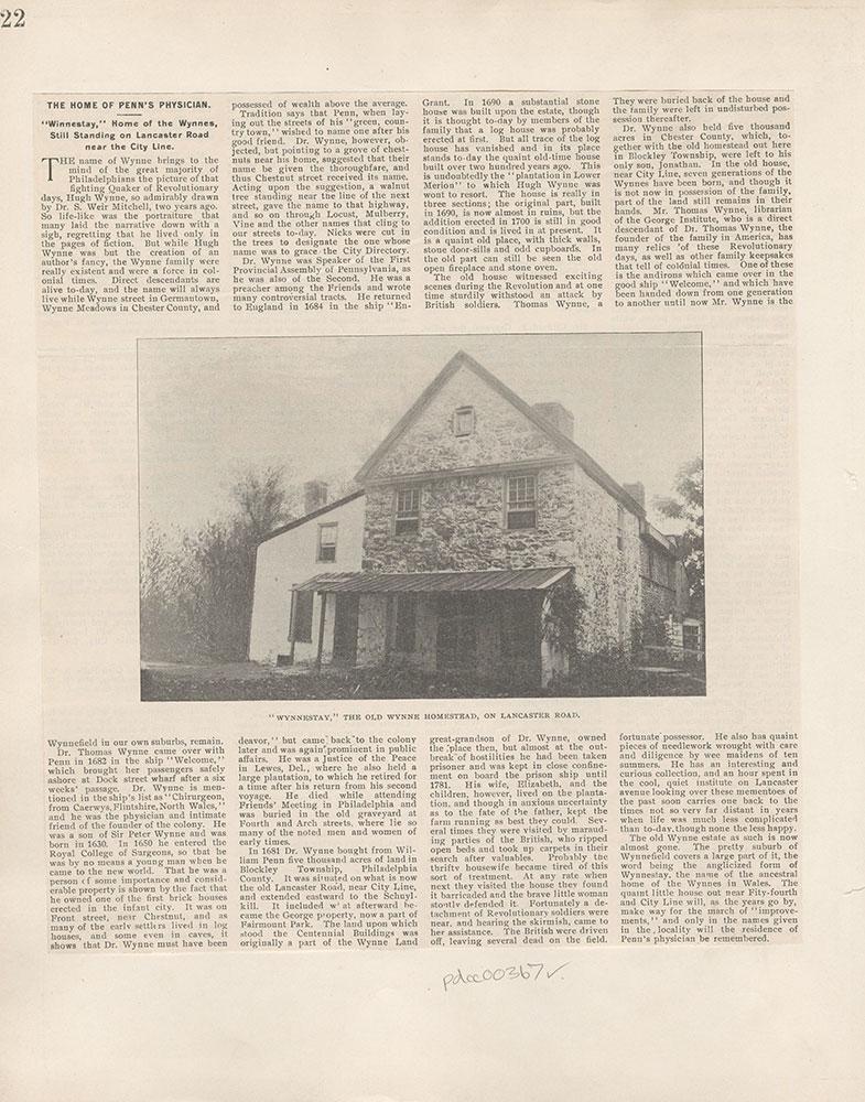 Castner Scrapbook v.5, Old Houses 2, page 22