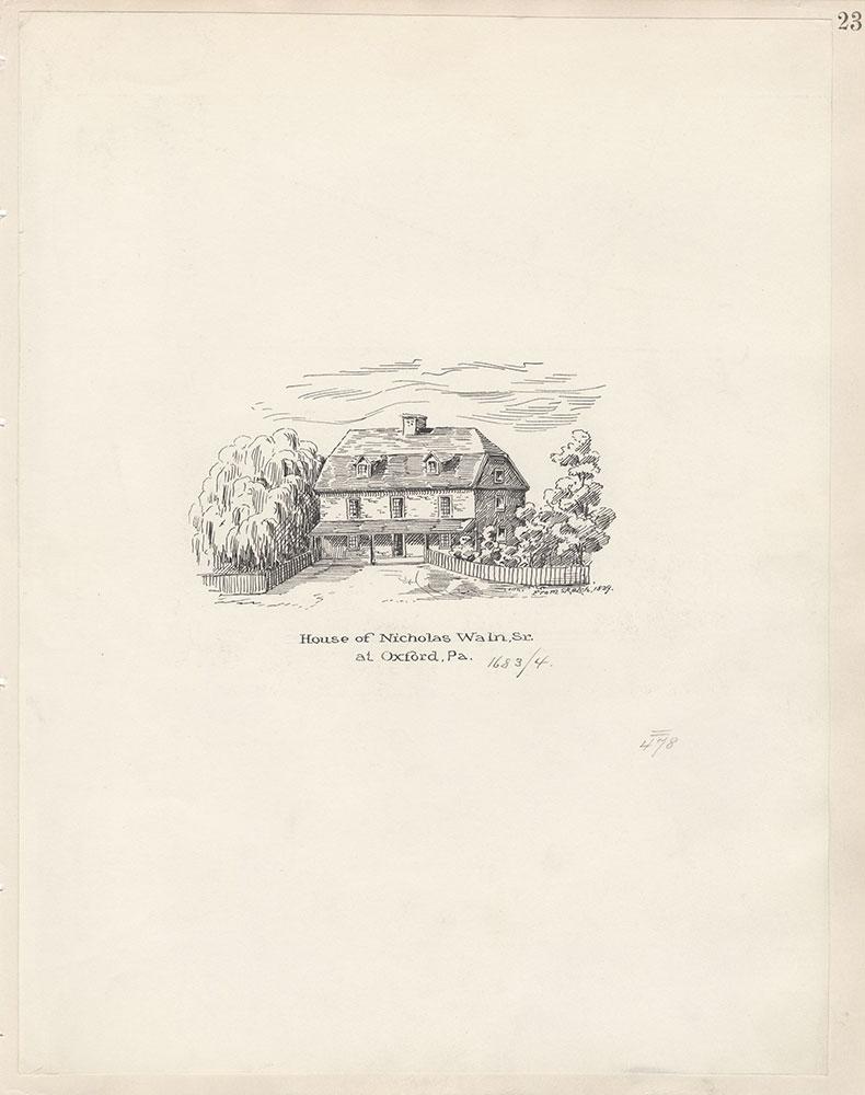 Castner Scrapbook v.5, Old Houses 2, page 23