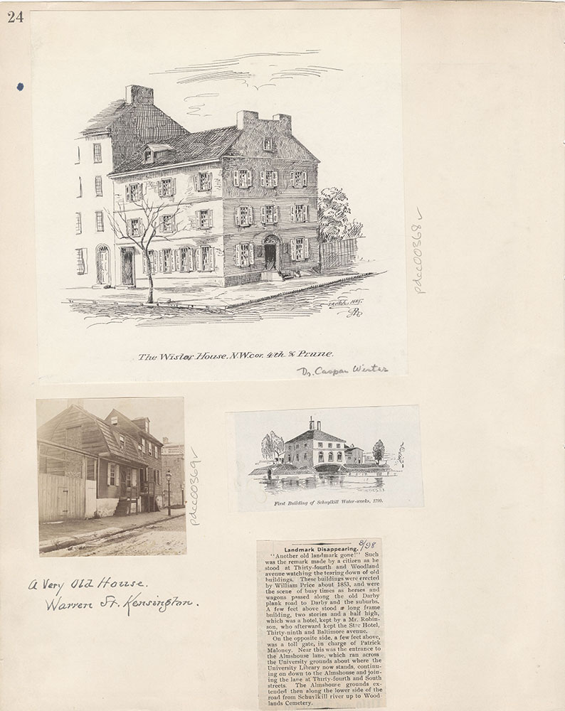 Castner Scrapbook v.5, Old Houses 2, page 24