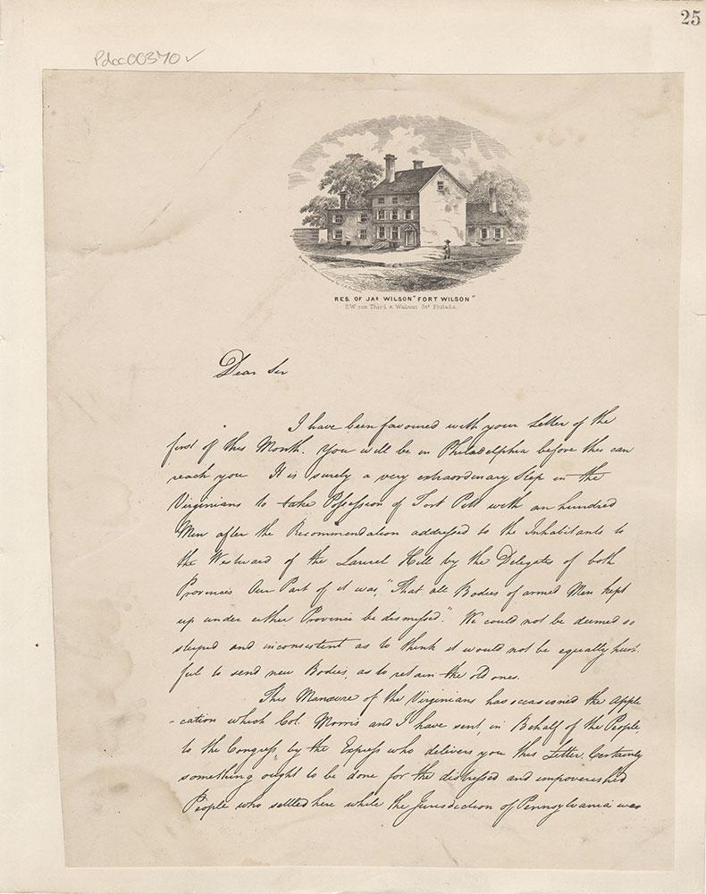 Castner Scrapbook v.5, Old Houses 2, page 25