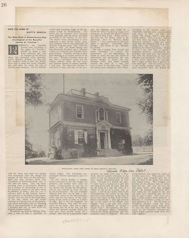 Castner Scrapbook v.5, Old Houses 2, page 26