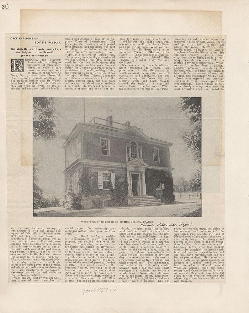 Castner Scrapbook v.5, Old Houses 2, page 26