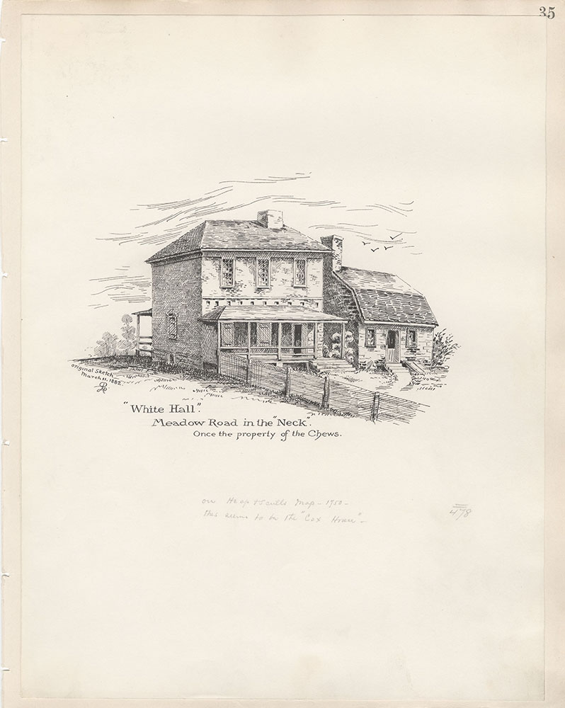 Castner Scrapbook v.5, Old Houses 2, page 35