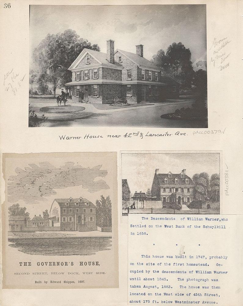 Castner Scrapbook v.5, Old Houses 2, page 36