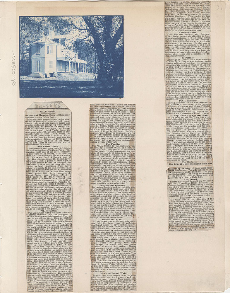Castner Scrapbook v.5, Old Houses 2, page 37